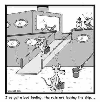 Rats Deserting the Ship
